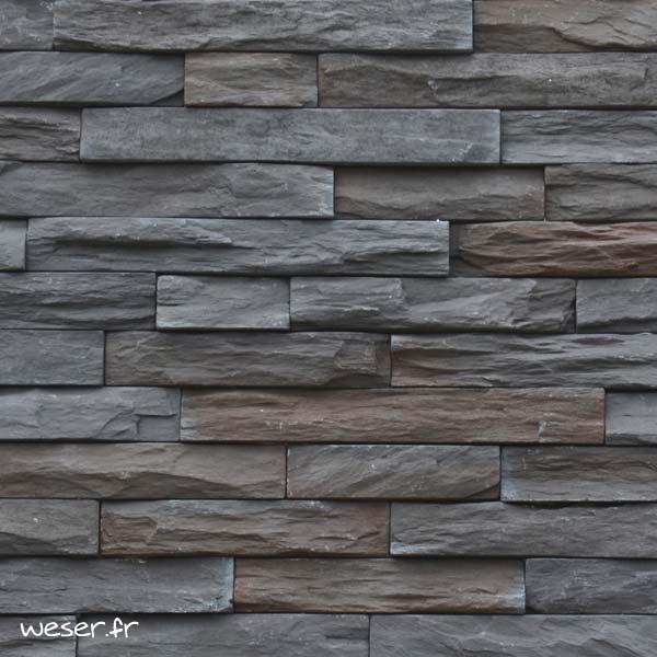 Plaquettes de parement muraux De Ryck By Weser MUROK STRATO Gris Nuancé DRPKGM85