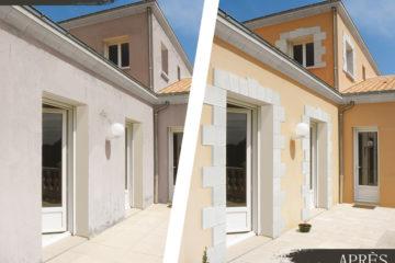 Avant / Après Décors de façade, parements d'ouverture
