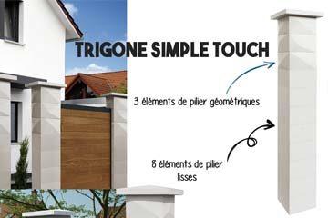 Pilier de clôture Trigone Simple Touch WESER
