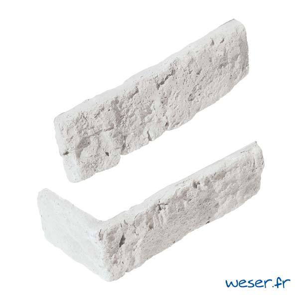 Plaquettes de parement muraux De Ryck By Weser GRANULIT G51 Blanc