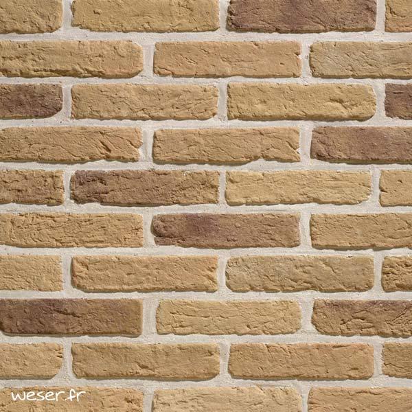 Plaquettes de parement muraux De Ryck By Weser GRANULIT G37 Jaune Antique