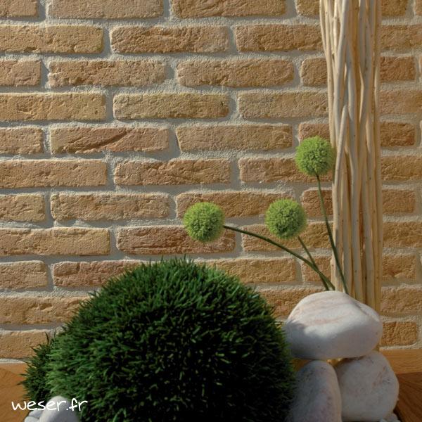 Plaquettes de parement muraux De Ryck By Weser GRANULIT G21 Jaune