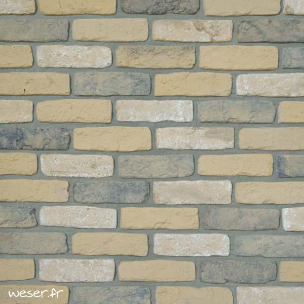 Plaquettes de parement muraux De Ryck By Weser GRANULIT G57 Jaune