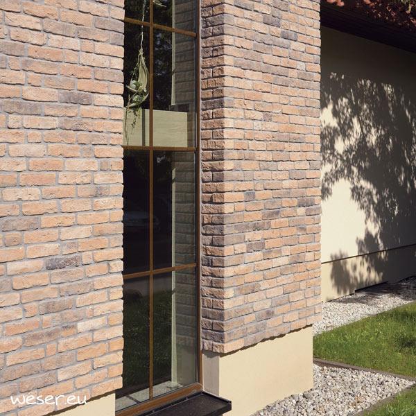 Plaquettes de parement muraux De Ryck By Weser GRANULIT G52 Rose