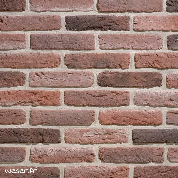 Plaquettes de parement muraux De Ryck By Weser GRANULIT G34 Rouge