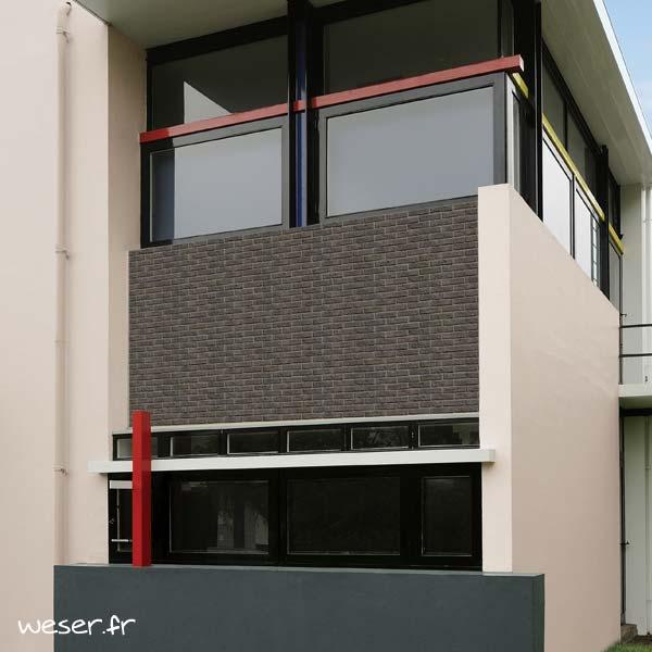 Plaquettes de parement muraux De Ryck By Weser INTERFIX Gris foncé DRPKGIF18