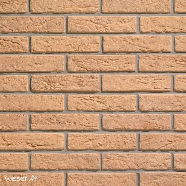 Plaquettes de parement muraux De Ryck By Weser INTERFIX Jaune DRPKGIF12