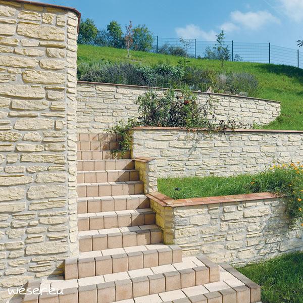 Plaquettes de parement muraux De Ryck By Weser MUROK SIERRA Blanc DRPKGM40