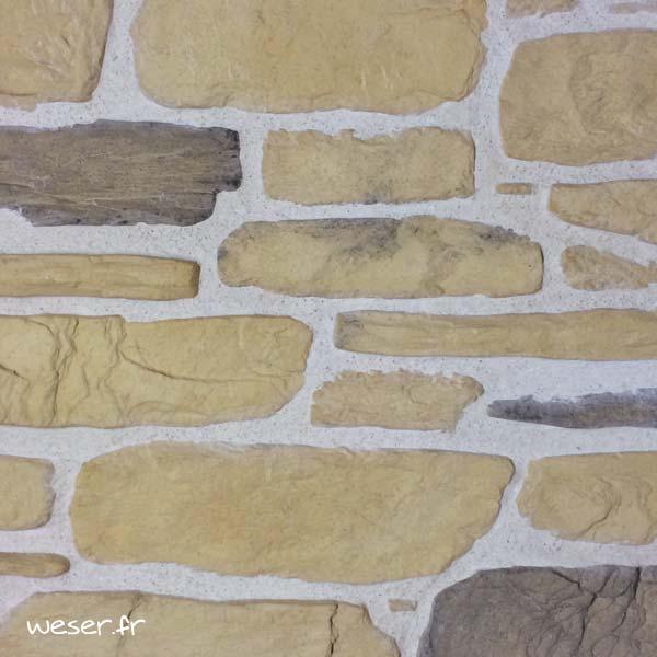 Plaquettes de parement muraux De Ryck By Weser MUROK SIERRA Jaune DRPKGM47