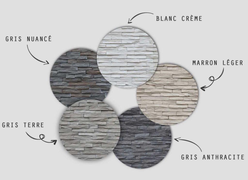 Plaquettes de parement muraux De Ryck By Weser STRATO - Nuancier de couleur
