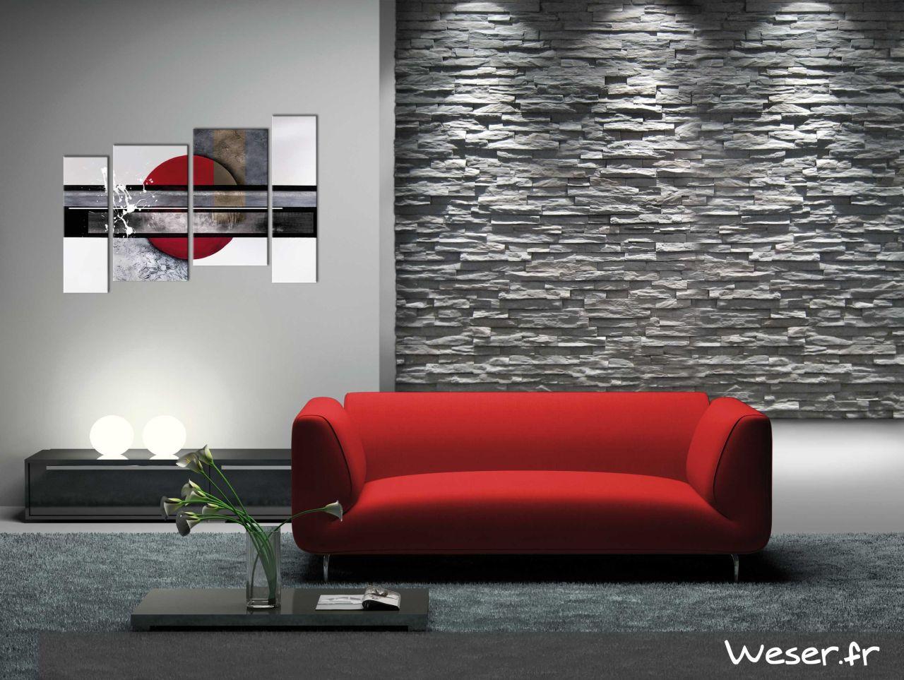 Plaquettes de parement muraux De Ryck By Weser STRATO Gris anthracite DRPKGM89