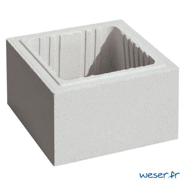 Élément de pilier/poteau de clôture ACCESS Weser - largeur 29 cm - Blanc cassé