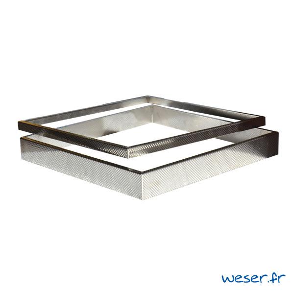 Kit 2 inserts damier PLATINUM / STEEL'IN - épaisseur 2 et 5 cm - Inox