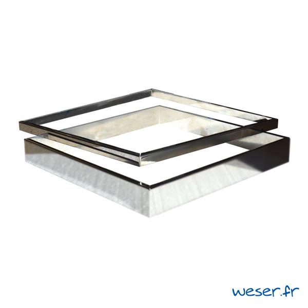Kit 2 inserts lisses PLATINUM / STEEL'IN - épaisseur 2 et 5 cm - Inox