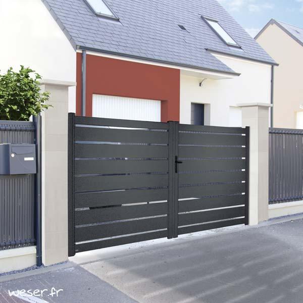Kit deux piliers de clôture complets ACCESS largeur 29 cm - PACCESS29CPLB - Blanc cassé