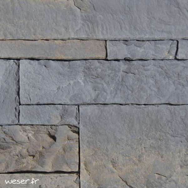 Plaquettes de parement muraux De Ryck By Weser ALVERSTONE ALV03 Gris Anthracite