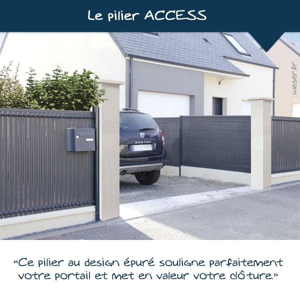 Nouveautés 2021 - Pilier de clôture ACCESS