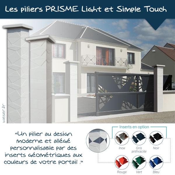 Nouveautés 2021 - Piliers de clôture PRISME Light et Simple touch