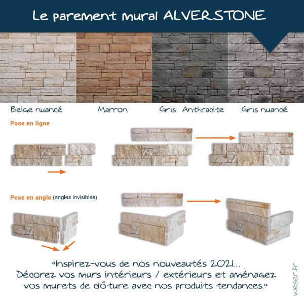 Nouveautés 2021 - Plaquettes de parement muraux De Ryck By Weser ALVERSTONE