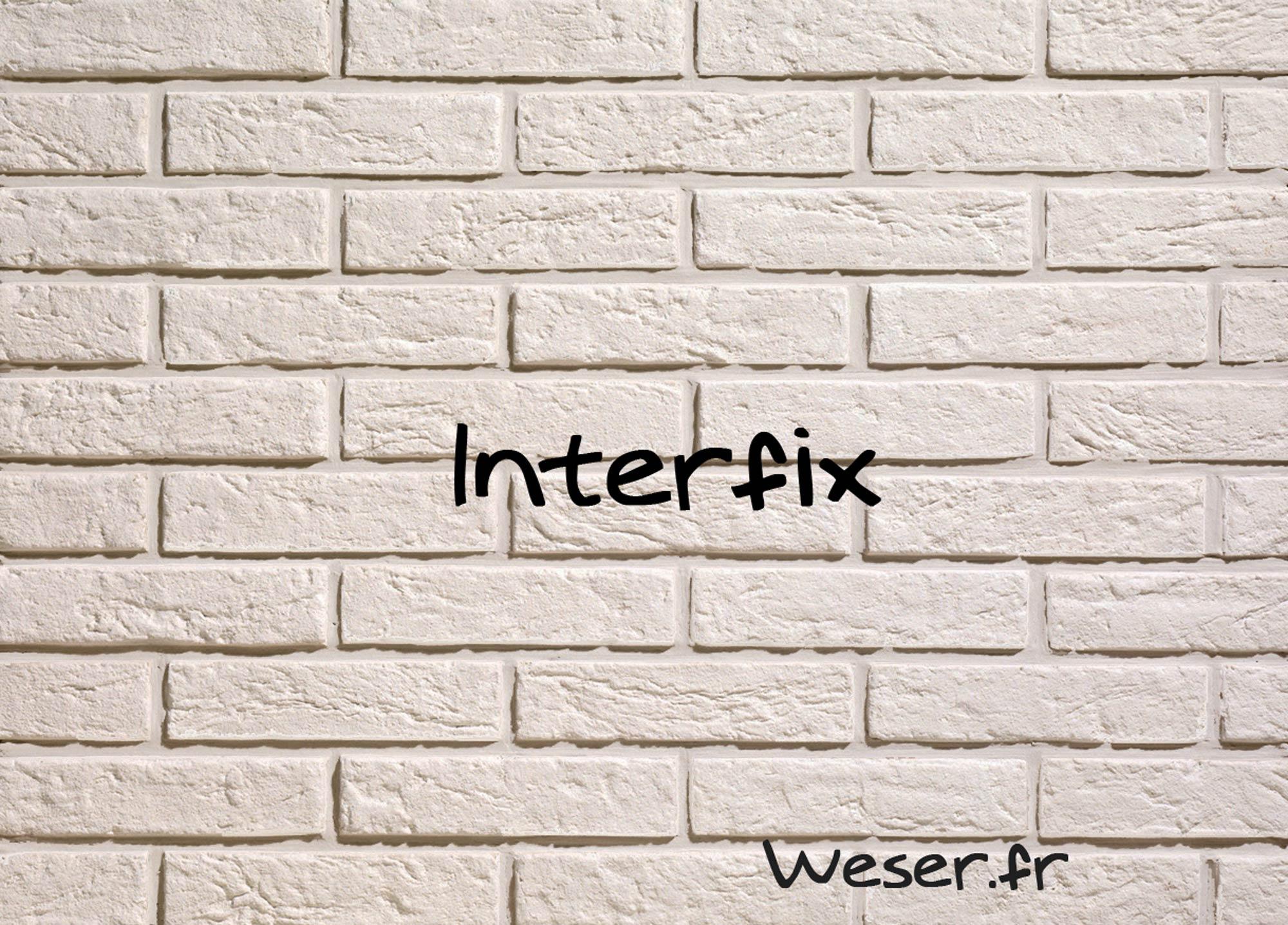 Plaquette de brique Interfix